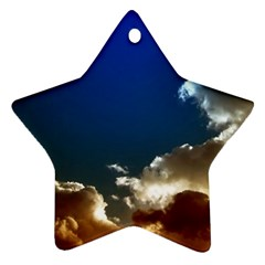 Cloudscape Twin Sided Ceramic Ornament (star) by artposters
