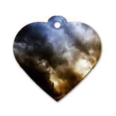 Cloudscape Single Sided Dog Tag (heart) by artposters