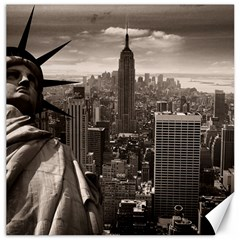 Statue Of Liberty, New York 12  X 12  Unframed Canvas Print by artposters