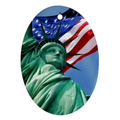 Statue of Liberty, New York Ceramic Ornament (Oval)