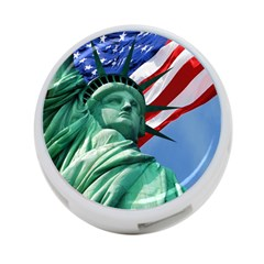 Statue Of Liberty, New York Twin Sided 4 Port Usb Hub (round) by artposters