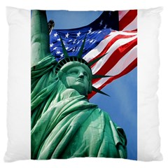 Statue Of Liberty, New York Large Cushion Case (one Side) by artposters