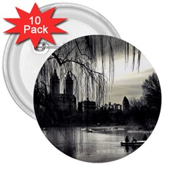 Central Park, New York 10 Pack Large Button (round) by artposters