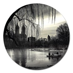 Central Park, New York Extra Large Sticker Magnet (round) by artposters