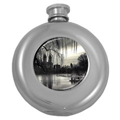 Central Park, New York Hip Flask (round)
