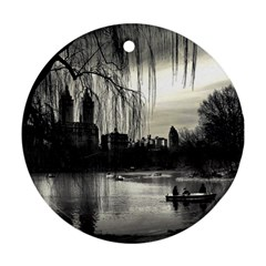 Central Park, New York Ceramic Ornament (round) by artposters