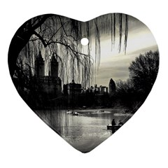 Central Park, New York Heart Ornament (two Sides) by artposters
