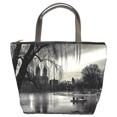 Central Park, New York Bucket Handbag by artposters