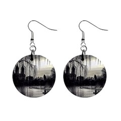 Central Park, New York Mini Button Earrings