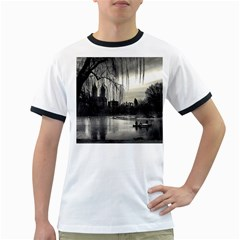 Central Park, New York White Ringer Mens'' T Shirt by artposters
