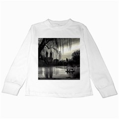 Central Park, New York White Long Sleeve Kids'' T Shirt