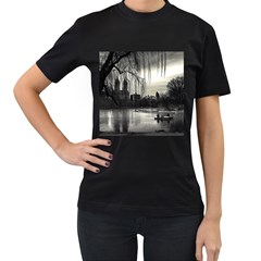 Central Park, New York Black Womens'' T Shirt by artposters