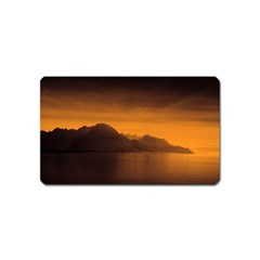 Waterscape, Switzerland Name Card Sticker Magnet
