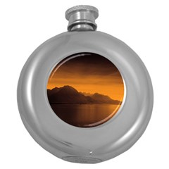 Waterscape, Switzerland Hip Flask (round)