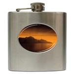 Waterscape, Switzerland Hip Flask Front
