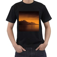 Waterscape, Switzerland Twin Sided Black Mens'' T Shirt by artposters