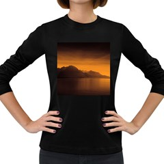 Waterscape, Switzerland Dark Colored Long Sleeve Womens'' T-shirt by artposters