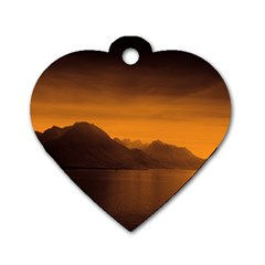 Waterscape, Switzerland Single Sided Dog Tag (heart) by artposters