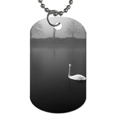 Swan Single Sided Dog Tag