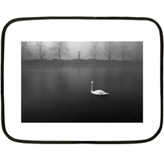 Swan Twin Sided Mini Fleece Blanket