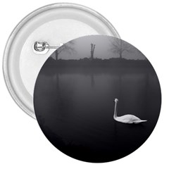 Swan Large Button (round) by artposters
