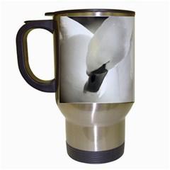 Swan White Travel Mug