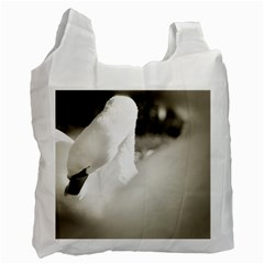 Swan Twin Sided Reusable Shopping Bag by artposters