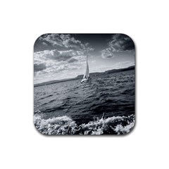 Sailing Rubber Drinks Coaster (square)