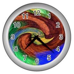 Culture Mix Silver Wall Clock by dawnsebaughinc