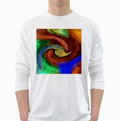 Culture Mix White Long Sleeve Man''s T Shirt by dawnsebaughinc