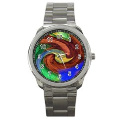 Culture Mix Stainless Steel Sports Watch (round) by dawnsebaughinc