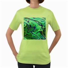 Easy Listening Green Womens  T Shirt