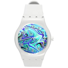 Easy Listening Round Plastic Sport Watch Medium by dawnsebaughinc