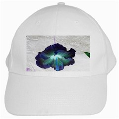 Exotic Hybiscus   White Baseball Cap