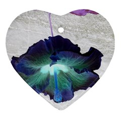 Exotic Hybiscus   Ceramic Ornament (heart) by dawnsebaughinc