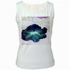 Exotic Hybiscus   White Womens  Tank Top by dawnsebaughinc