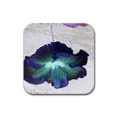 Exotic Hybiscus   Rubber Drinks Coaster (square) by dawnsebaughinc