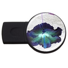 Exotic Hybiscus   2gb Usb Flash Drive (round) by dawnsebaughinc