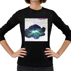 Exotic Hybiscus   Dark Colored Long Sleeve Womens'' T Shirt by dawnsebaughinc