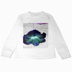 Exotic Hybiscus   White Long Sleeve Kids'' T Shirt by dawnsebaughinc