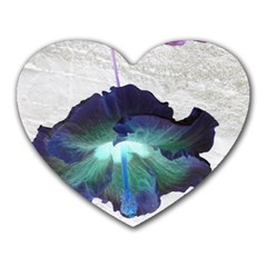 Exotic Hybiscus   Mouse Pad (heart) by dawnsebaughinc