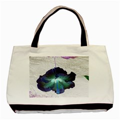 Exotic Hybiscus   Twin Sided Black Tote Bag by dawnsebaughinc