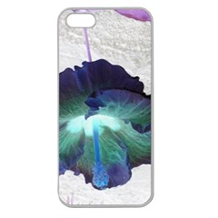 Exotic Hybiscus   Apple Seamless Iphone 5 Case (clear) by dawnsebaughinc