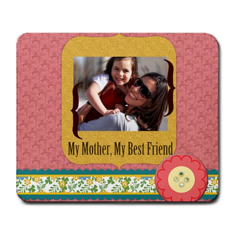 Mothers Day By Mom   Collage Mousepad   Lp5mk2hgt2xg   Www Artscow Com 9.25 x7.75 Mousepad - 1