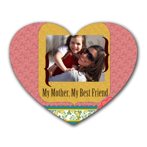 Mothers Day By Mom   Heart Mousepad   Azgbstkqv1rn   Www Artscow Com Front
