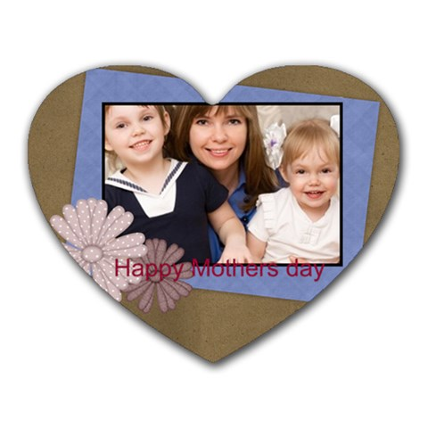 Mothers Day By Mom   Heart Mousepad   3apyuqw4qy18   Www Artscow Com Front