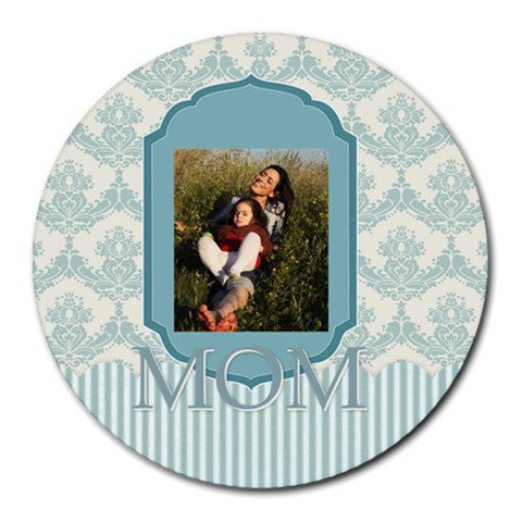 Mothers Day By Mom   Collage Round Mousepad   6bnmahlyeuqh   Www Artscow Com 8 x8 Round Mousepad - 1