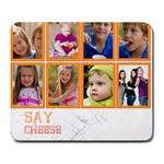 say cheese - Large Mousepad