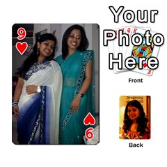 Sonal Gift By Sonal Kothari   Playing Cards 54 Designs   Nqz6l77gl895   Www Artscow Com Front - Heart9