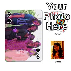 Sonal Gift By Sonal Kothari   Playing Cards 54 Designs   Nqz6l77gl895   Www Artscow Com Front - Spade9